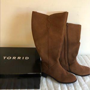New torrid genuine suede boots